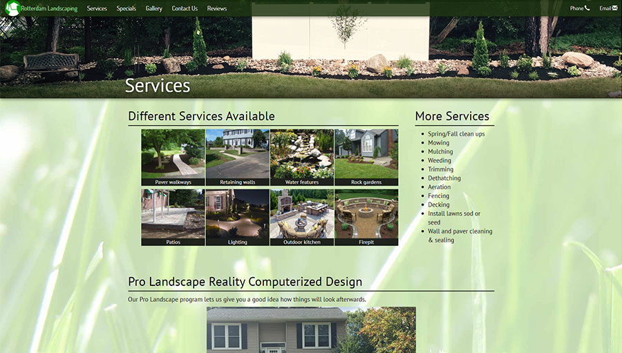 Rotterdam Landscaping Site